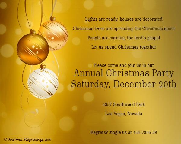 Christmas Invitation Background Gold.Christmas Invitation Template And Wording Ideas Christmas