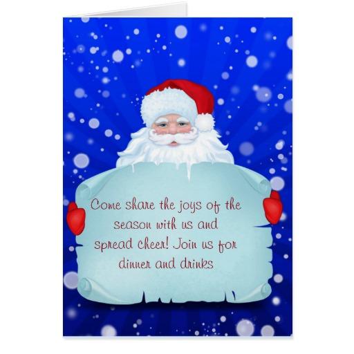 Christmas Invitation Template And Wording Ideas - Christmas ...