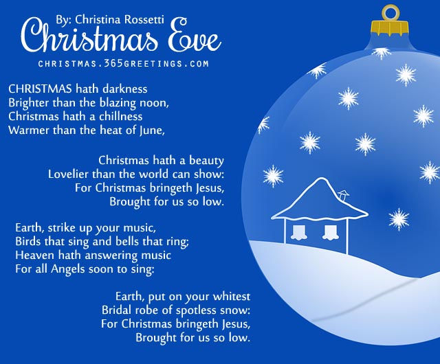 Short Christmas Poems - Christmas Celebration - All about Christmas