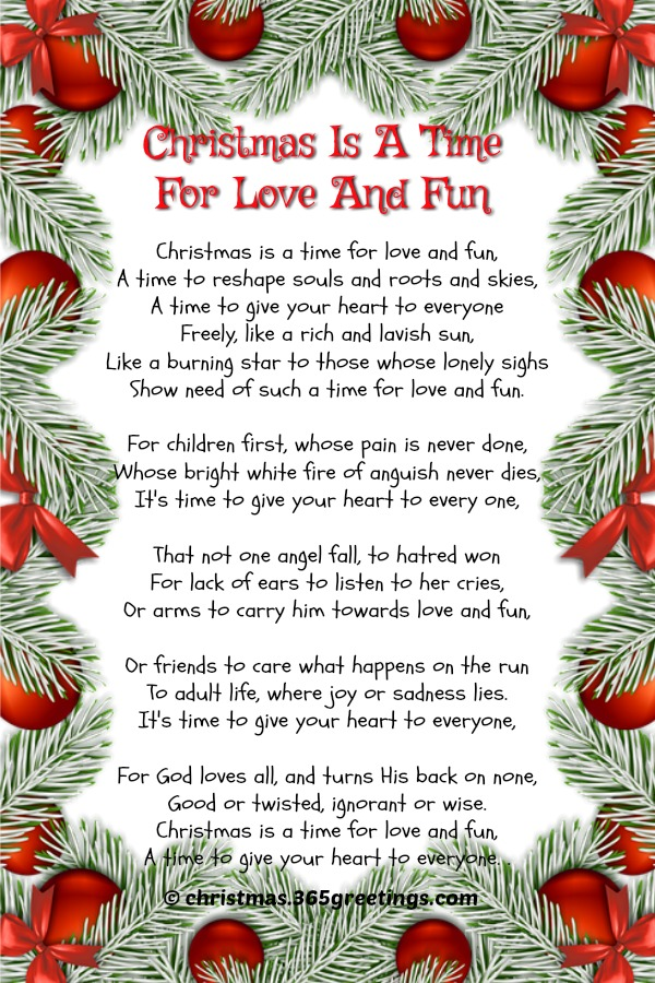 short christmas poems picture - Christian Christmas Song