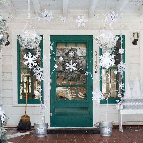 snowflake outdoor christmas decorations - Blue And White Outdoor Christmas Decorations