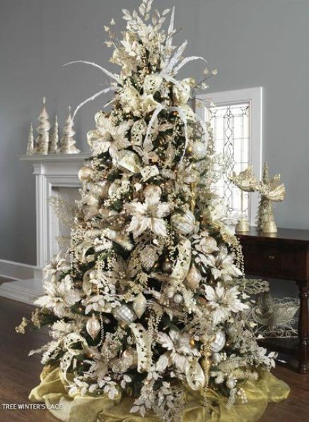 Winter Themed Christmas Tree Ideas. Image: NijiHomeDesign