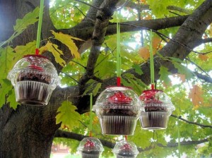 Cupcakes as Christmas Favors.  Photo Credit: