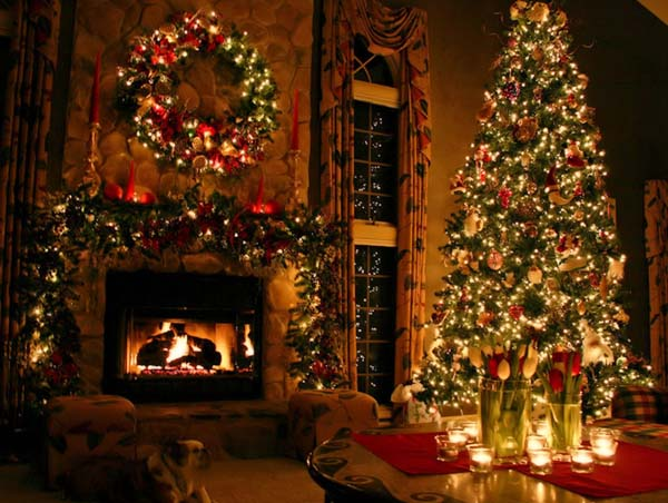 christmas decorations fireplace idea