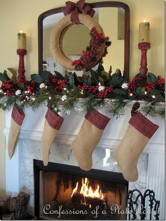 christmas fireplace decorating ideas 21 - Christmas Fireplace Decorating Ideas