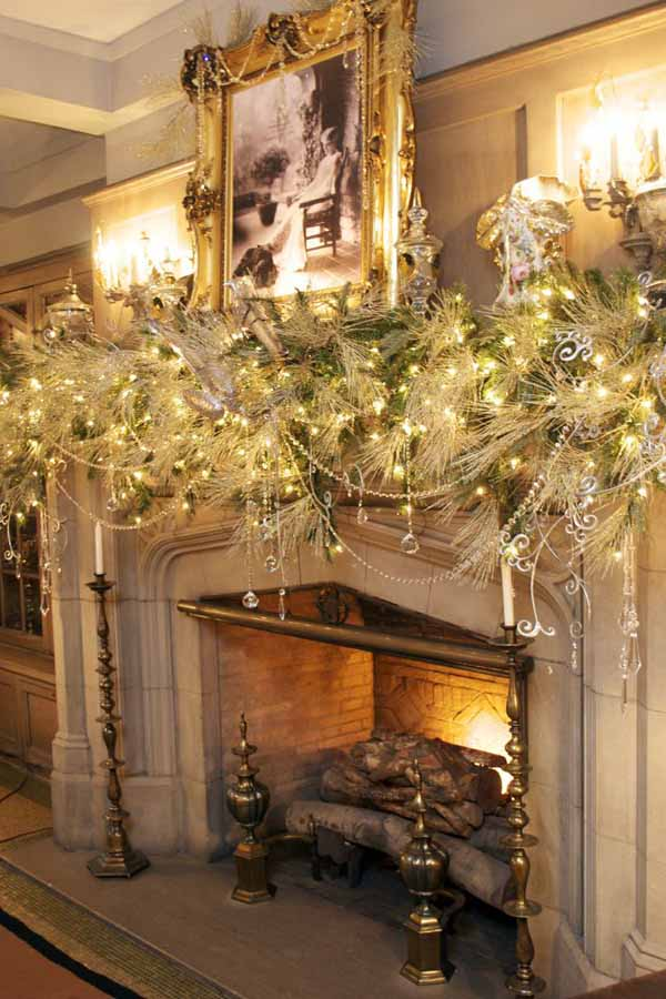 image interior heaven christmas fireplace decorating ideas - Christmas Fireplace Decorating Ideas