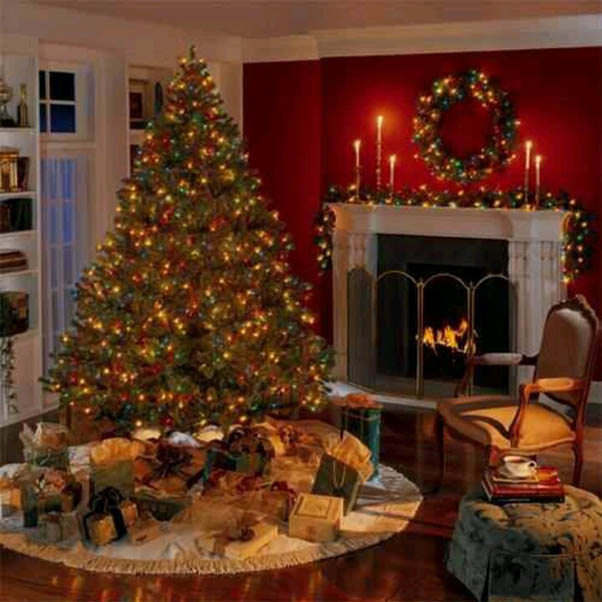 50 most beautiful christmas fireplace decorating ideas - Mantelpiece Christmas Decorations