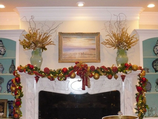 christmas fireplace decorations ideas - How To Decorate A Fireplace For Christmas
