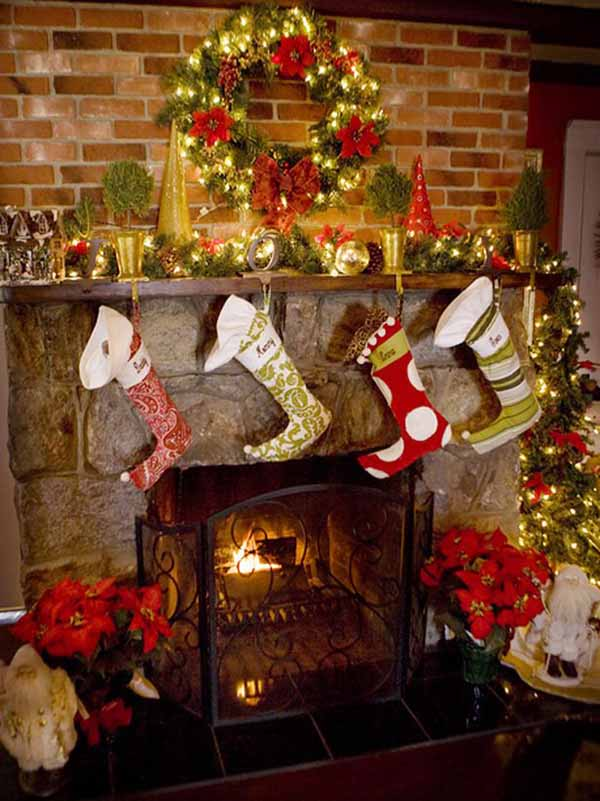 Decorations For Christmas 50 most beautiful christmas fireplace decorating ideas - christmas