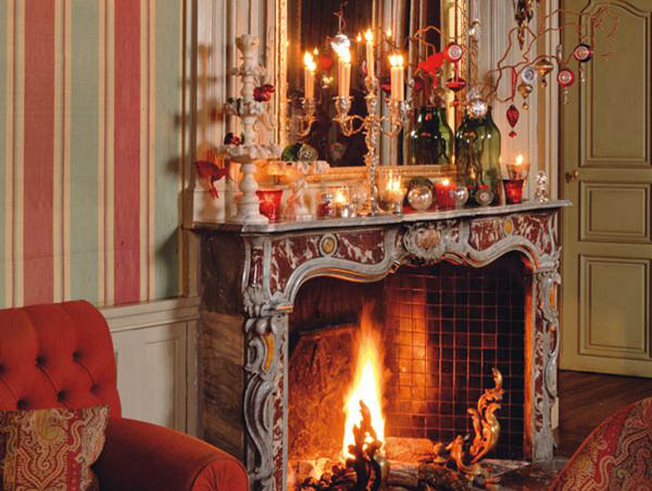 christmas fireplace decorations - Images Of Fireplace Mantels Decorated For Christmas