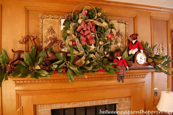 christmas fireplace mantel decorations - Images Of Fireplace Mantels Decorated For Christmas