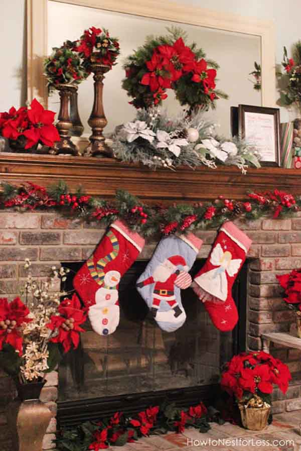 christmas-fireplace-mantel-garlands