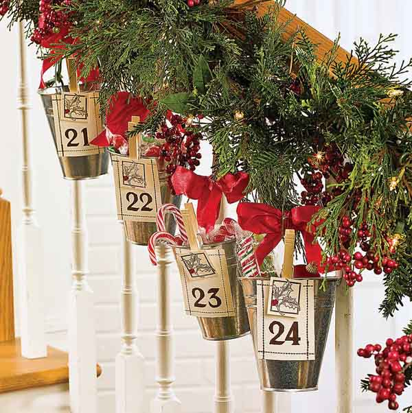 Christmas Garland For Stairs