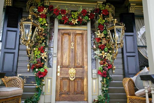 Christmas Garland Ideas Front Door