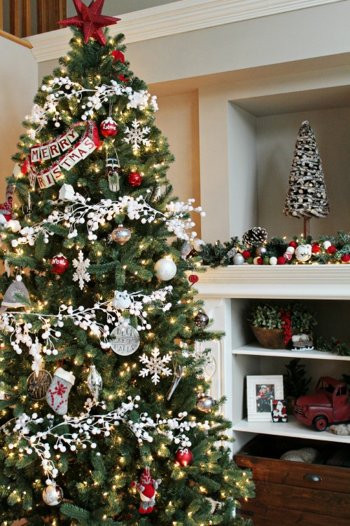white christmas tree decorations ideas