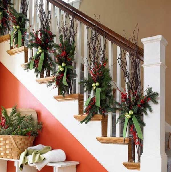 image source designspadcom christmas stair garland ideas