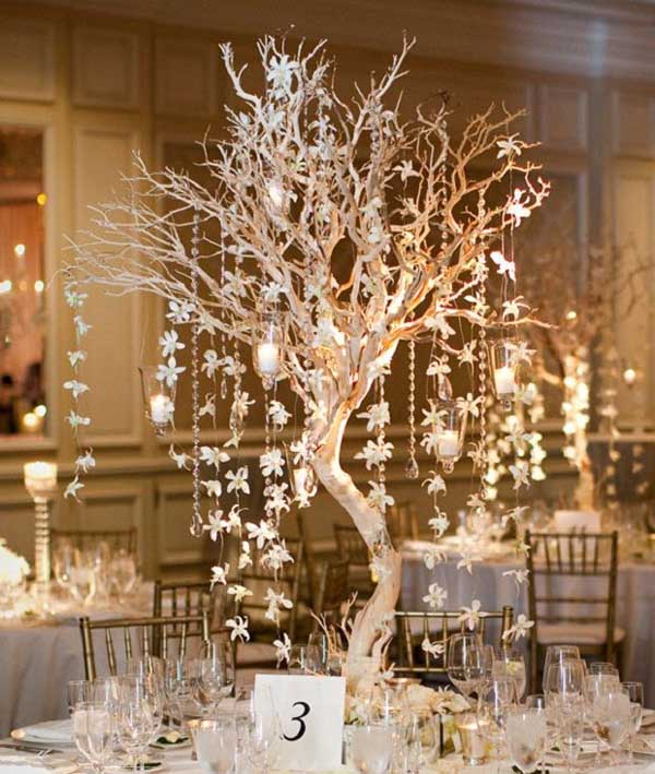 25 breathtaking christmas wedding ideas christmas celebration christmas wedding centerpiece ideas solutioingenieria Image collections