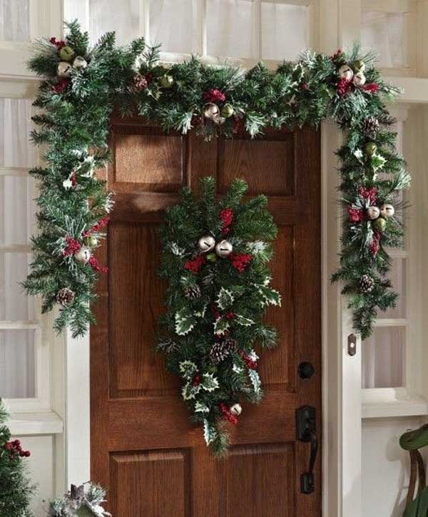 Image Source Betterdecorating Door Christmas Garland Ideas