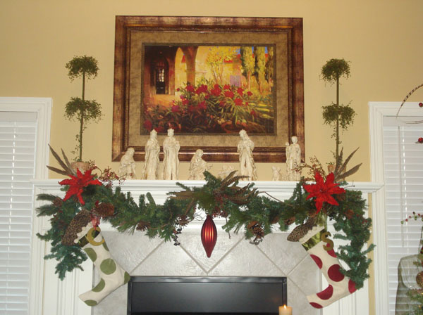 Image Source Herviewfromhome Fireplace Christmas Garland Ideas