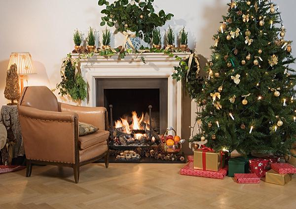 fireplace decorations ideas - How To Decorate A Fireplace For Christmas