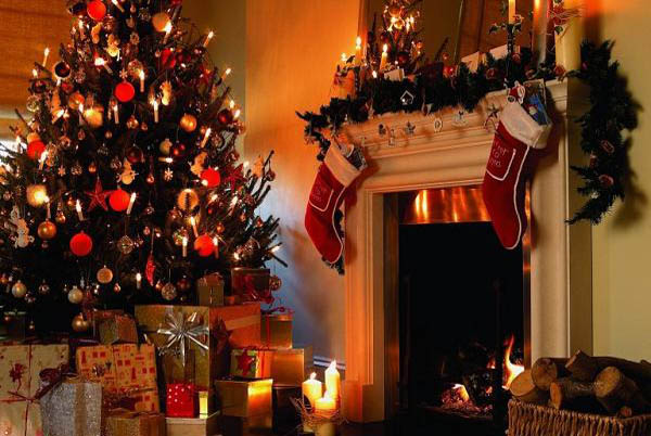 Ideas Christmas Fireplace Decoration