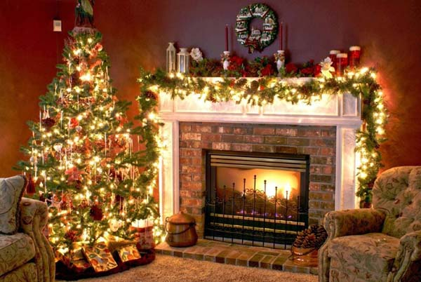 Christmas Fireplace Decorating Ideas - 50 Most Beautiful Christmas Fireplace Decorating Ideas - Christmas