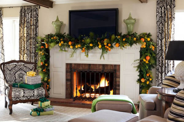 mantel-christmas-garland-ideas