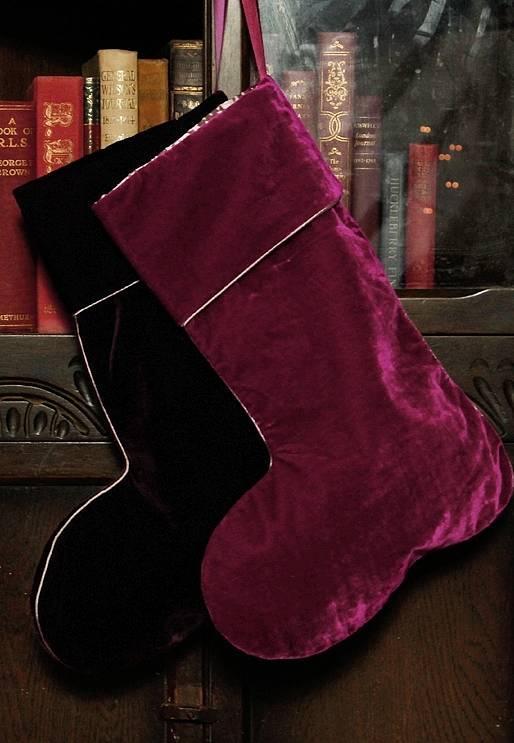 this christmas go royal with velvet christmas stockings perfect for christmas weddings photo - Velvet Christmas Stockings