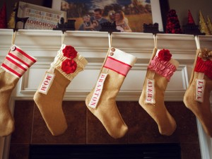 Personalize Christmas stockings by adding name tags onto them. Photo Credit: http://www.countryliving.com/cm/countryliving/images/Ro/clx-etsy-stockings-00023-lgn.jpg