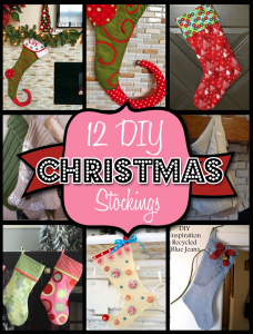 Check out Pinterest for more inspiration and easy tutorials. Photo Credit: http://homeketeers.com/wp-content/uploads/2013/09/12-christmas-diy-stockings.png