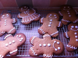 Bake a batch of gingerbread man cookies and put them as treats, in Christmas stockings. Photo Credit: http://theyorkshirebakery.files.wordpress.com/2013/01/004.jpg Photo Credit: