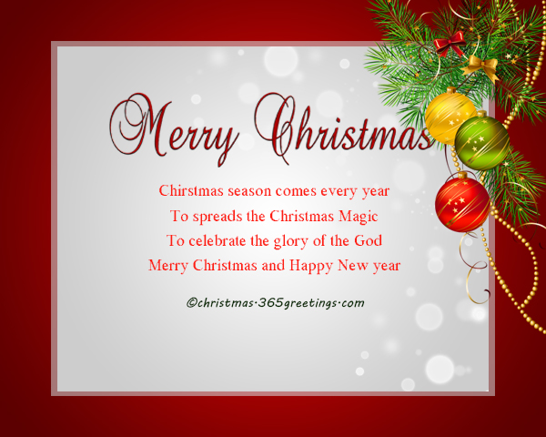 christmas and new year card messages