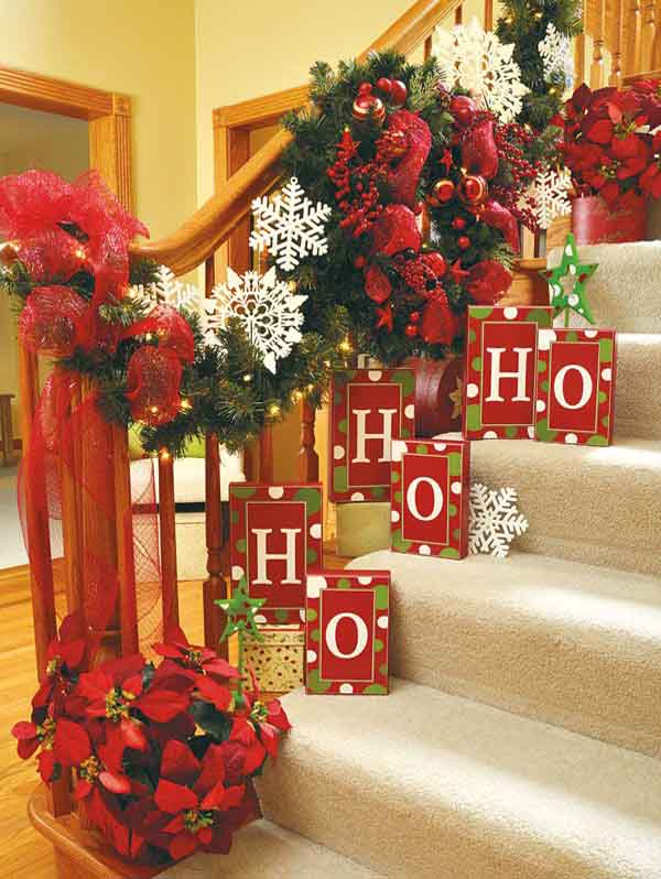 christmas decoration ideas - How To Decorate Outdoor Stairs For Christmas
