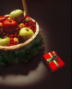 Christmas Fruit Gift Basket. Photo Credit: fineartamerica.com