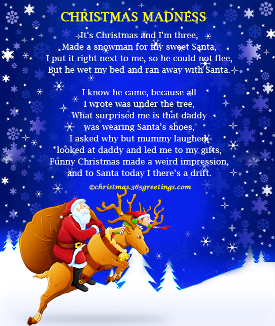 Humorous christmas poems for adults