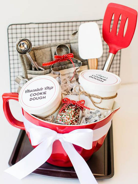 If Your Recipient Loves To Bake This One Is The Idea Hamper A Huge Mug Filled With Baking Stuff Such As Sprinkles Cookie Cutter And Whisk