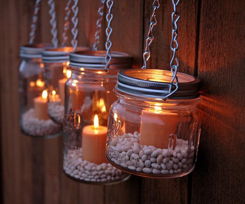 Decorating-ideas-with-lanterns-beans-diy-hanging-mason-jar