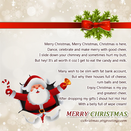 Funny Christmas Poems - Christmas Celebration - All about Christmas