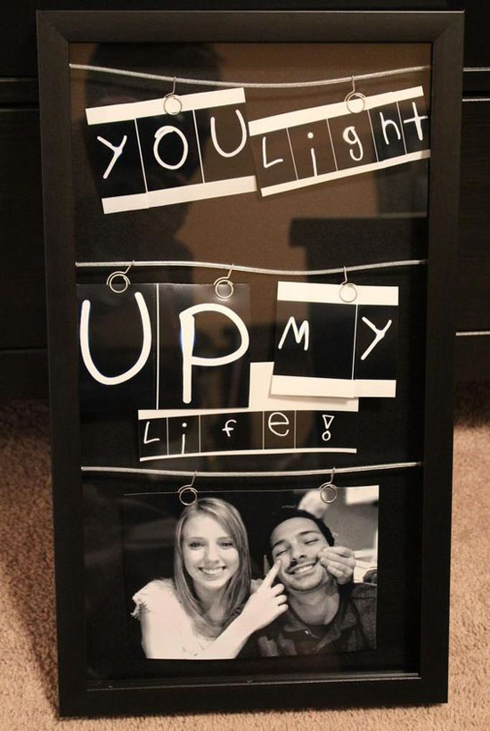 oh this is pretty creative way to display your photo this could be your romantic christmas gift for your boyfriend or girlfriend