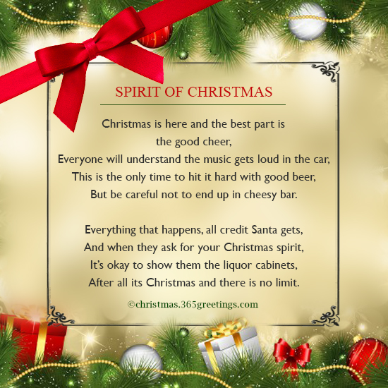Funny Christmas Poems - Christmas Celebration - All about