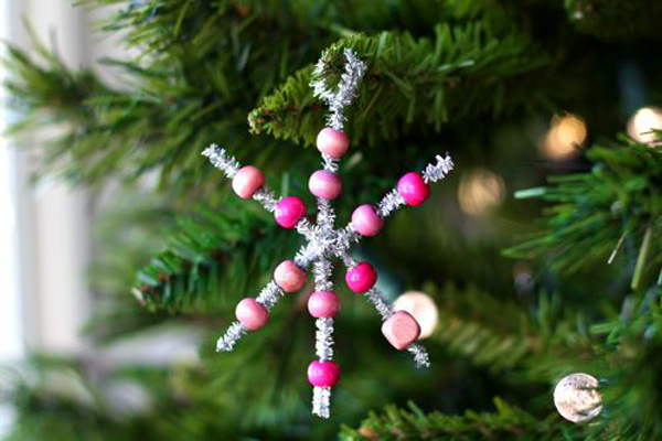 homemade bead christmas ornament photo credit wwwparentmapcom - Homemade Christmas Decorations For Kids