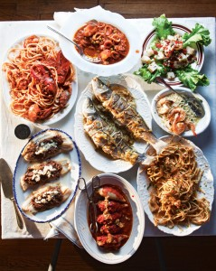 Menu for a Feast of Seven Fishes. Photo Credit: www.saveur.com