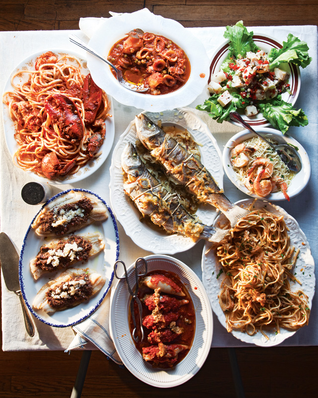 Ideas For Christmas Eve Party Part - 30: Menu For A Feast Of Seven Fishes. Photo Credit: Www.saveur.com