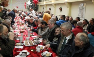 Poor People in Poland Having Their Christmas Feast. Photo Credit: www.thenews.pl