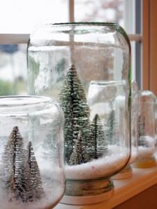 Homemade Snow Globes. Photo Credit:http://www.hgtv.com
