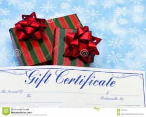 Christmas Gift Certificate. Photo Credit: www.dreamstime.com