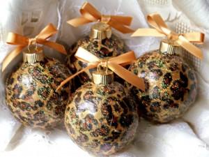 Animal Print Homemade Christmas Ornaments. Photo Credit: www.care2.com -