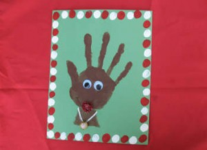 Making Hand Printed Christmas Cards is an activity which is thoroughly enjoyed by kids. Photo Credit:http://1.bp.blogspot.com/-0D1-kajA47I/UMg3TOtfGAI/AAAAAAAAG5o/gqbHwCfFp-U/s1600/handprint_rudolph.jpg