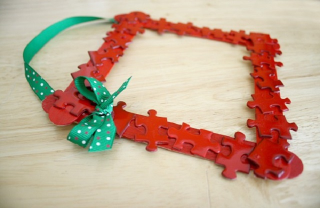 Homemade-Christmas-Ornaments-for-Kids-Puzzle-Christmas-Frame