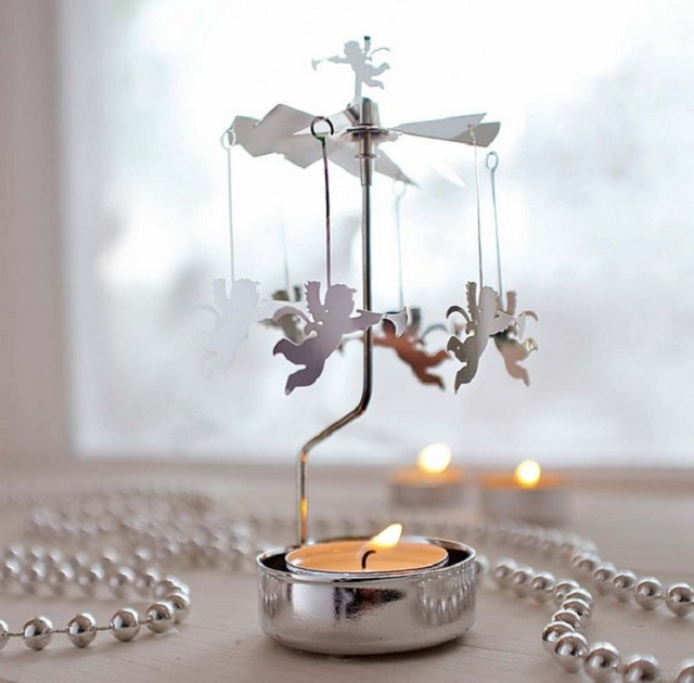 White-Christmas-Table-Decorations-Angel-Carousel-Candle-Holder